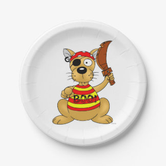boo - pirate dog paper plate