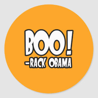 BOO-RACK OBAMA COSTUME - Halloween -.png Classic Round Sticker