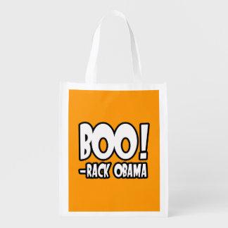 BOO-RACK OBAMA COSTUME - Halloween -.png Reusable Grocery Bag