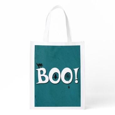 Halloween Themed Boo! Reusable Grocery Bag