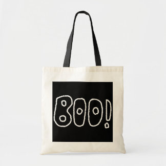 BOO! Rounded Jagged White Letters. Bag