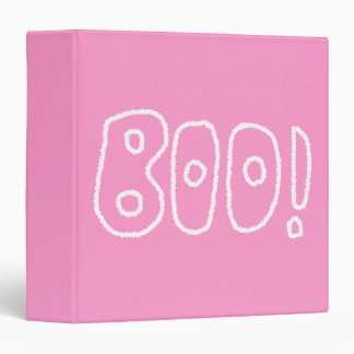 BOO! Rounded Jagged White Letters. Binder