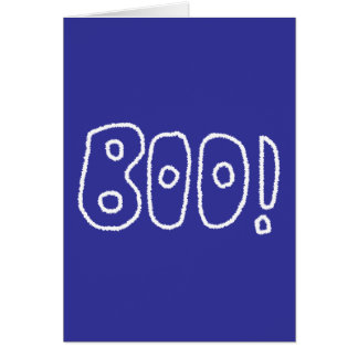 BOO! Rounded Jagged White Letters. Card
