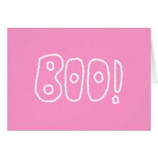 BOO! Rounded Jagged White Letters. Cards