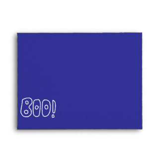 BOO! Rounded Jagged White Letters. Envelopes