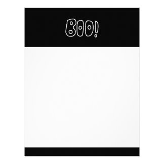 BOO! Rounded Jagged White Letters. Letterhead
