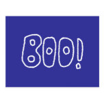 BOO! Rounded Jagged White Letters. Postcard