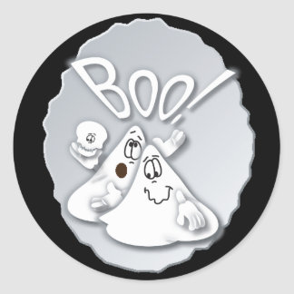 Boo! Silly Ghost | Halloween Classic Round Sticker