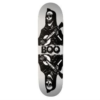 Boo Skeleton on Guitar Skate Board