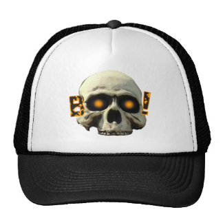 Boo Skull Mesh Hats