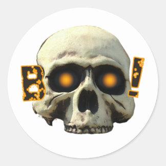 Boo Skull Round Stickers