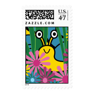 Boo! Snail Postage Stamps