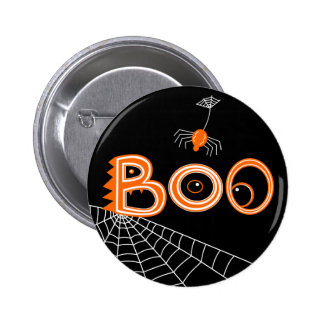 Boo! Spider Halloween (Dark Version) Pinback Button