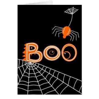 Boo! Spider Halloween (Dark Version) Card