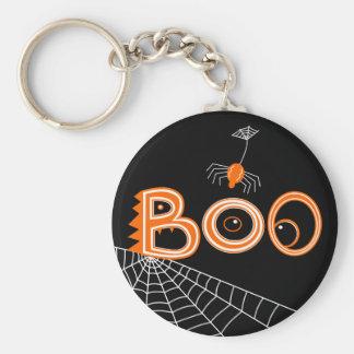 Boo! Spider Halloween (Dark Version) Basic Round Button Keychain