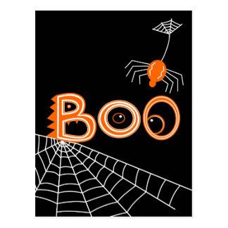 Boo! Spider Halloween (Dark Version) Postcard