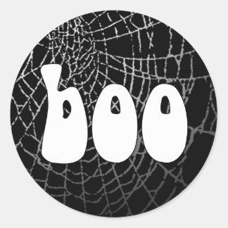 Boo Spider Web Sticker or Envelope Seal