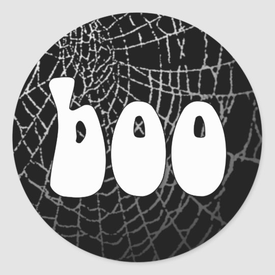Boo Spider Web Sticker or Envelope Seal
