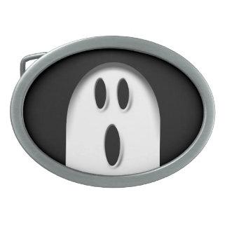 Boo Spooky Ghost Halloween Dress Up Oval Belt Buckle