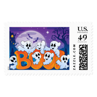 Boo Spooky Ghost Postage