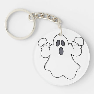 Boo! Spooky Halloween Ghost Keychains