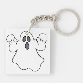 Boo! Spooky Halloween Ghost Keychain