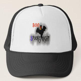 Boo spooky nights scary halloween hat design