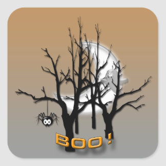 BOO SQUARE STICKER