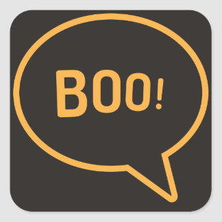 Boo! Square Sticker