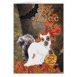 Boo! Squirrel Halloween Card