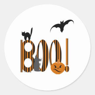 Boo! Round Stickers