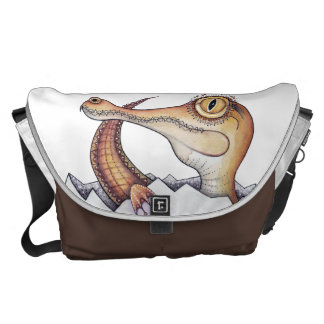 'Boo' the baby crocodile Courier Bags