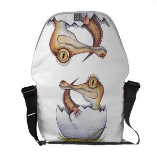 'Boo' the baby crocodile Messenger Bag