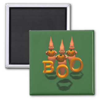 Boo! Three Cute Ghosties 2 Inch Square Magnet