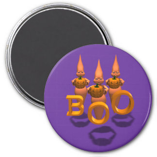 Boo! Three Cute Ghosties 3 Inch Round Magnet