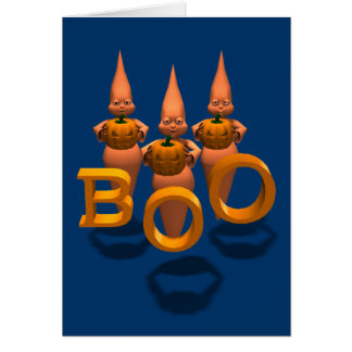 Boo! Three Cute Ghosties Card