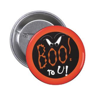 Boo to You Halloween Scarey Eyes Pinback Button