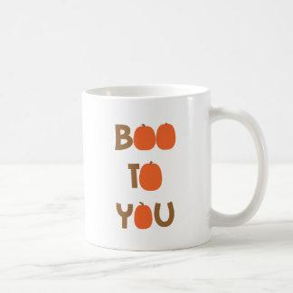 Boo To You (O's as pumpkins) Classic White Coffee Mug