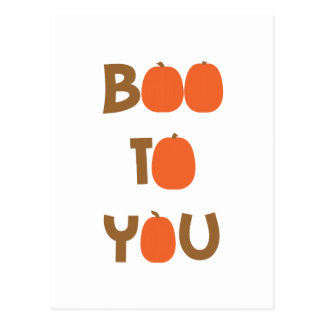 Boo To You (O's as pumpkins) Postcard