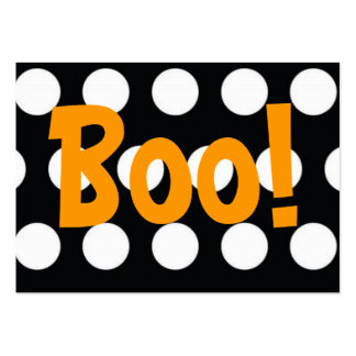 Boo! Treat Bag Tag Large Business Card