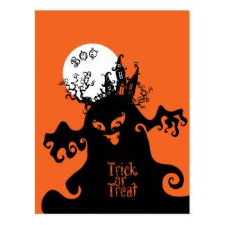 Boo Trick or Treat design Postcard