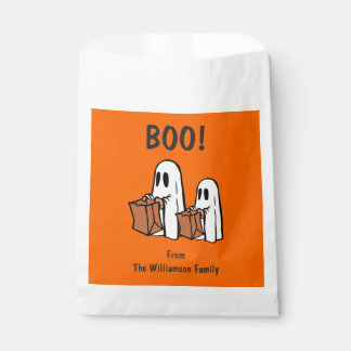 Boo Trick Treat Cute Spooky Ghosts Halloween Party Favor Bag
