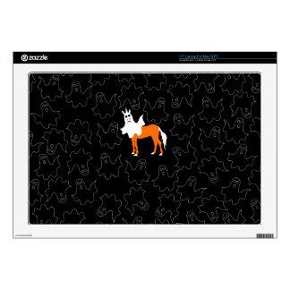 """Boo Unicorn 17"""" Laptop Decal"""