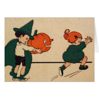 Boo! (Vintage Halloween Card) Greeting Card