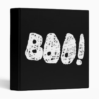 BOO! White and Black Letters. 3 Ring Binders