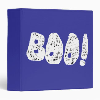 BOO! White and Black Letters. Binders