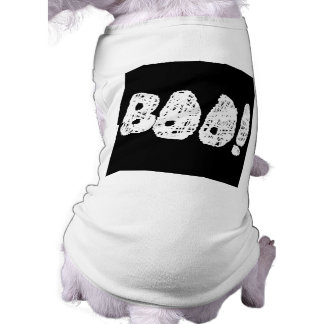 BOO! White and Black Letters. Doggie Tee Shirt
