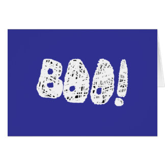 BOO! White and Black Letters. Greeting Card
