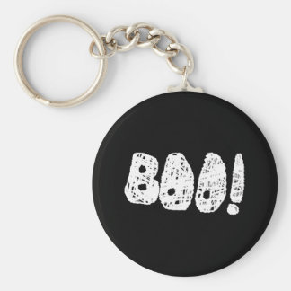 BOO! White and Black Letters. Keychains