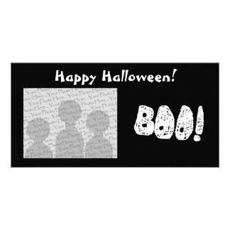 BOO! White and Black Letters. Photo Cards